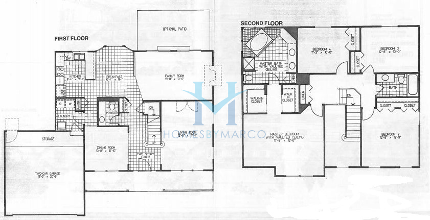 Waterford model in the windsor ridge subdivision in for Windsor homes floor plans