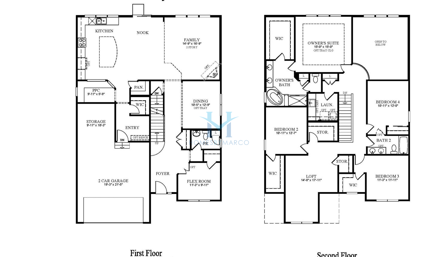 Homes By Marco Floor Plans: Waverly Model In The Hawthorn Hills Subdivision In