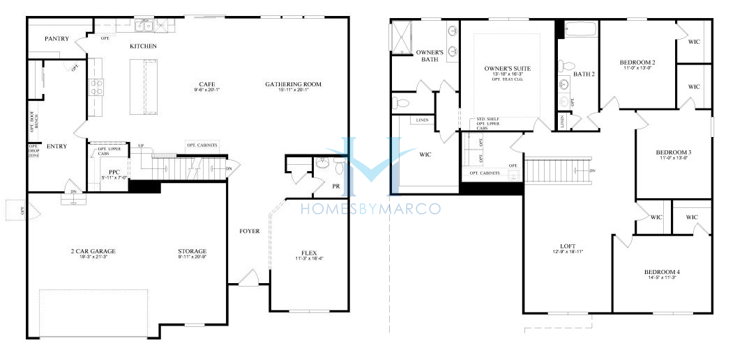 Homes By Marco Floor Plans: Westchester Model In The Ashwood Pointe Subdivision In