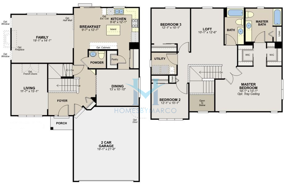Homes By Marco Floor Plans: Engle Homes Floor Plans Marley Park