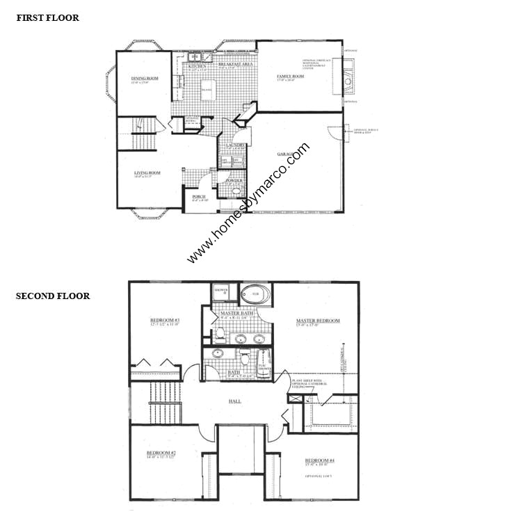 Williamsburg model in the somerfield subdivision in for Williamsburg house plans