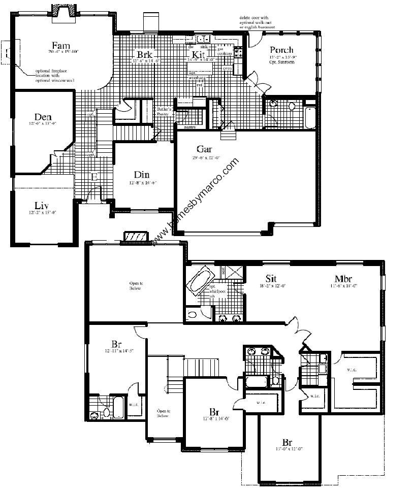 Wilshire model in the hawthorn trails subdivision in for Wilshire homes floor plans