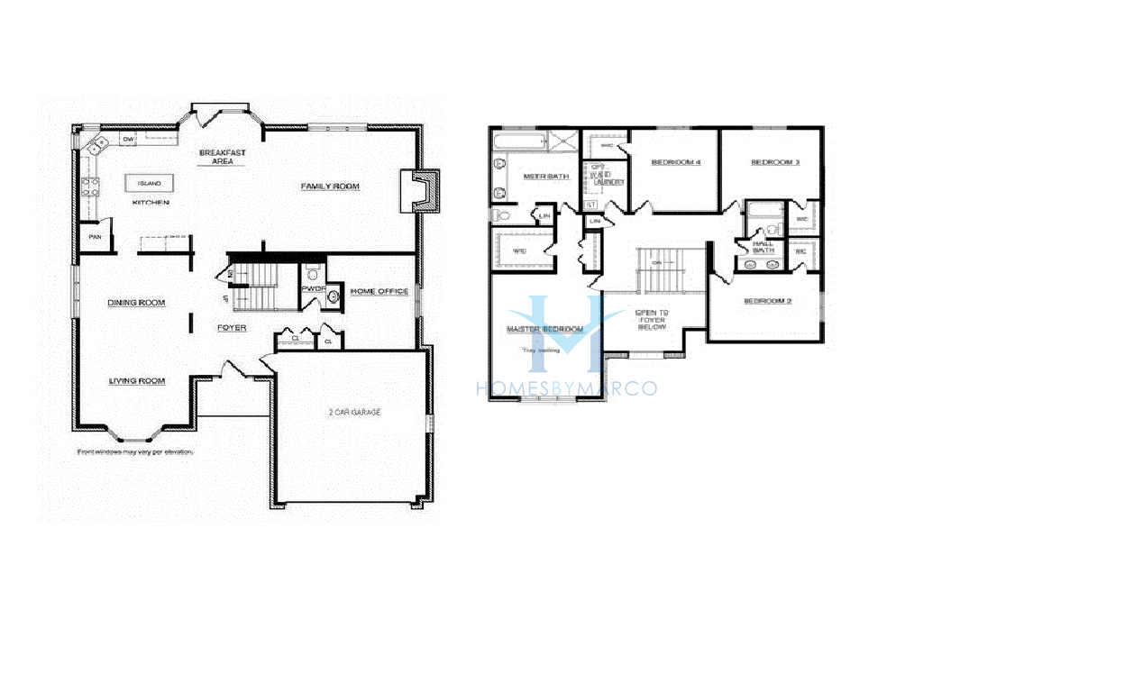 Winchester model in the hibernia estates subdivision in for Home models plans