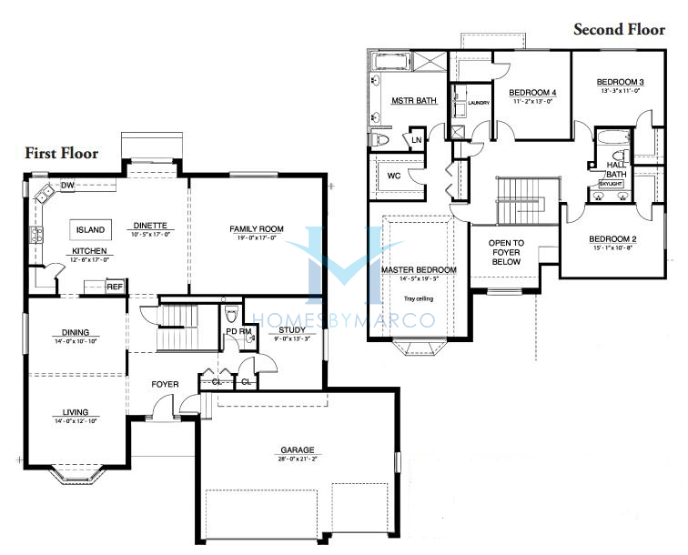 Homes By Marco Floor Plans: Nantucket Lakes Subdivision In New Lenox, Illinois, Homes