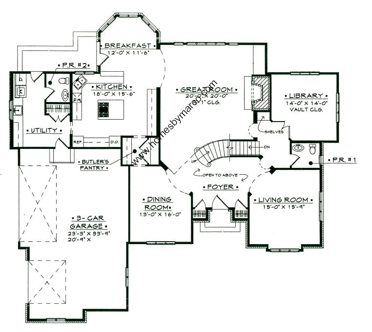 Windemere first floor model in the prairie creek for Windemere homes floor plans