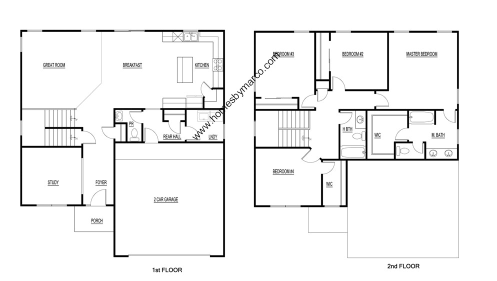 Homes By Marco Floor Plans: Greywall Club Subdivision In Joliet, Illinois, Homes For