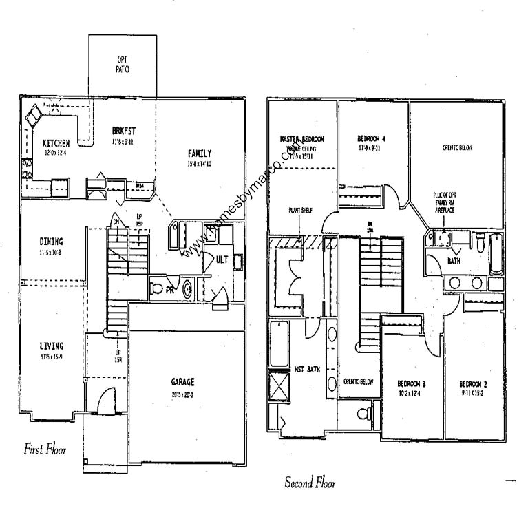 Woodland homes floor plans woodland model in the sanctuary for Minnesota lake home floor plans
