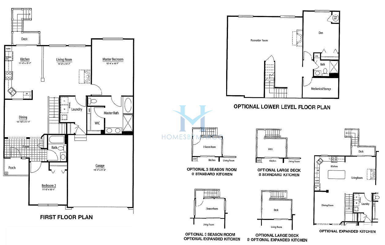 Homes By Marco Floor Plans: Wright Model In The Remington Pointe Subdivision In Volo