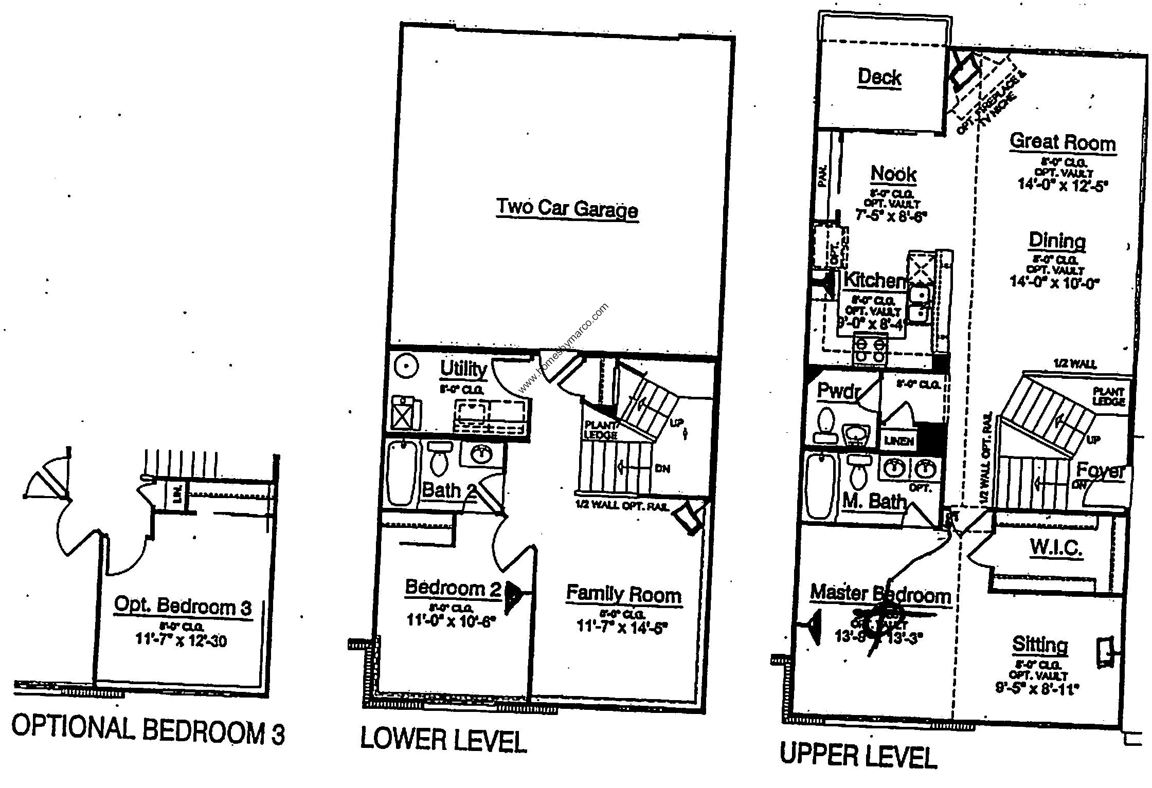 Homes By Marco Floor Plans: Wyndham Model In The The Reserve Of Elgin Subdivision In