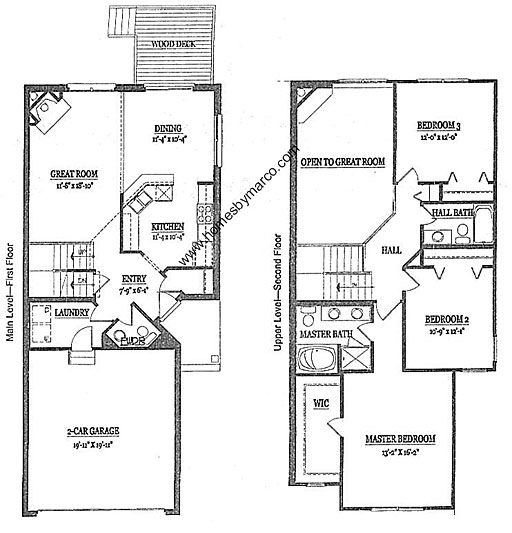 Townhouse Floor Plan 3 Car Garage Google Search: Ashford Model In The Presidents Manor Townhomes