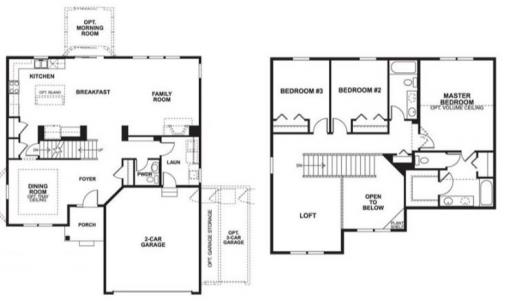 Baldwin model in the kearney glen subdivision in joliet for Baldwin floor plan