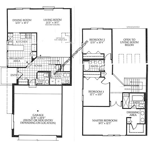Barclay model in the hidden lake village subdivision in for Barclay home design