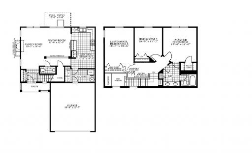 Homes By Marco Floor Plans: Belle Model In The Cambridge Lakes Subdivision In Pingree