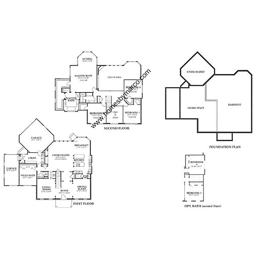 Bennington model in the chapel crossing subdivision in for Small chapel floor plans