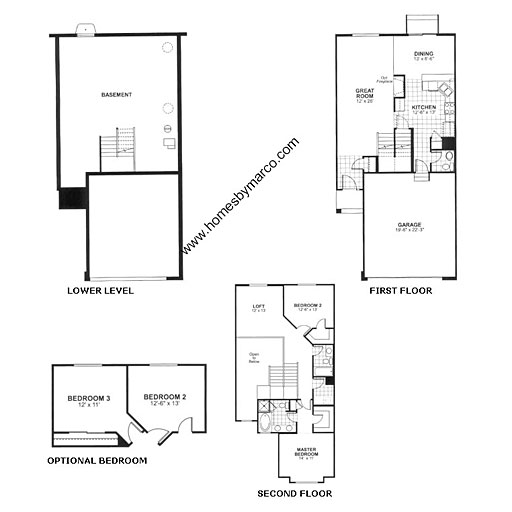 Berkshire model in the canterbury fields subdivision in Canterbury floor plan
