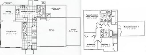 Brentwood model in the heatherstone subdivision in dekalb for Brentwood floor plan
