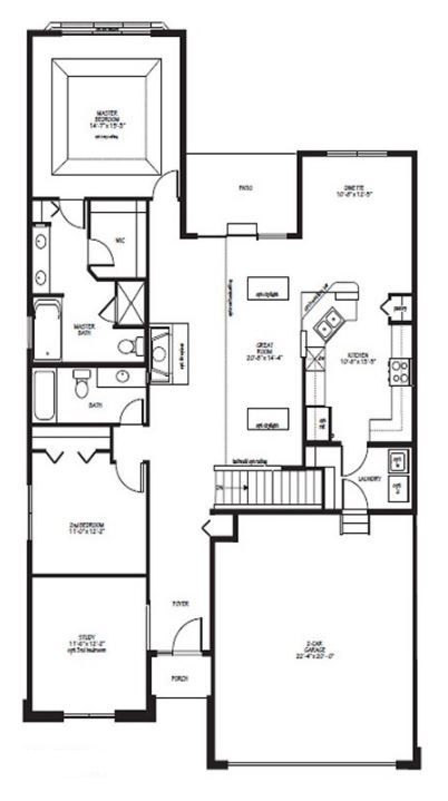 Brentwood model in the lakes of boulder ridge subdivision for Brentwood floor plan