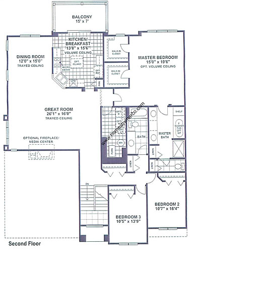 Brighton model in the bayhill subdivision in vernon hills for Brighton homes floor plans