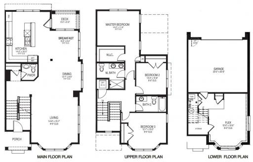 Homes By Marco Floor Plans: Camden Model In The Westgate At The Glen Subdivision In