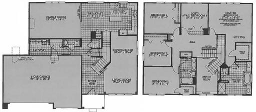images of floor plans canterbury model in the the shires subdivision in lake 18768
