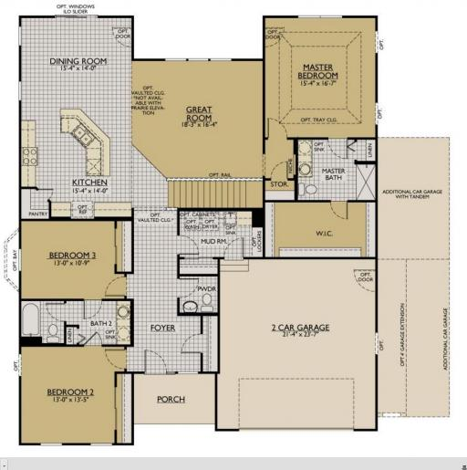 Coventry model in the coves subdivision in algonquin for Coventry homes floor plans