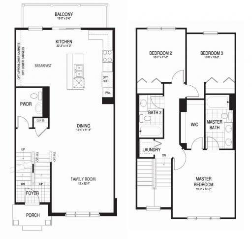 Coventry model in the lexington row at port clinton place for Coventry homes floor plans