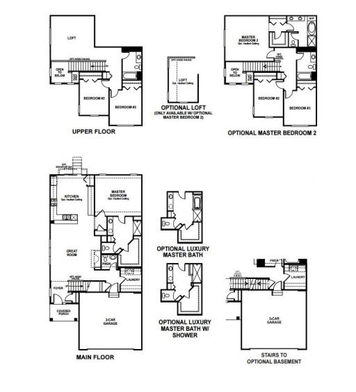 Timber Floor Plans: Danbury Model In The Timber Creek Subdivision In Winfield