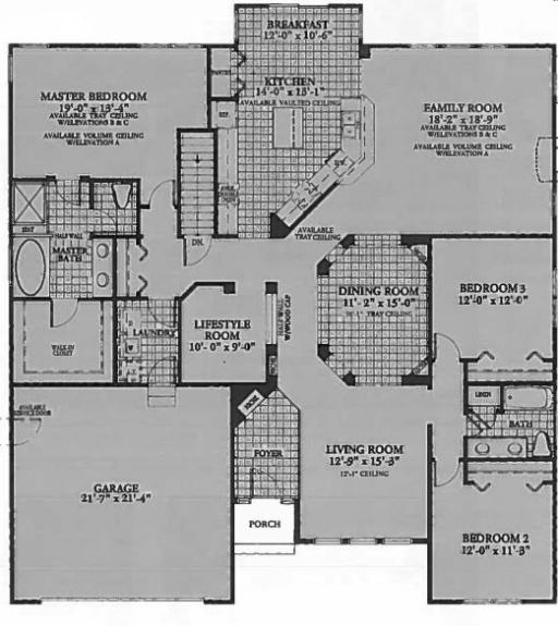 Dartmouth model in the cambridge lakes subdivision in for Dartmouth floor plans