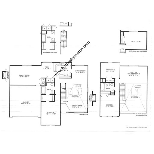 Devonshire model in the westglen subdivision in naperville for Devonshire floor plan
