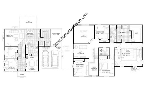 Homes By Marco Floor Plans: Jackson Model In The Highland Woods Subdivision In Elgin