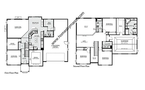 Homes By Marco Floor Plans: Jefferson Model In The River Hills Subdivision In
