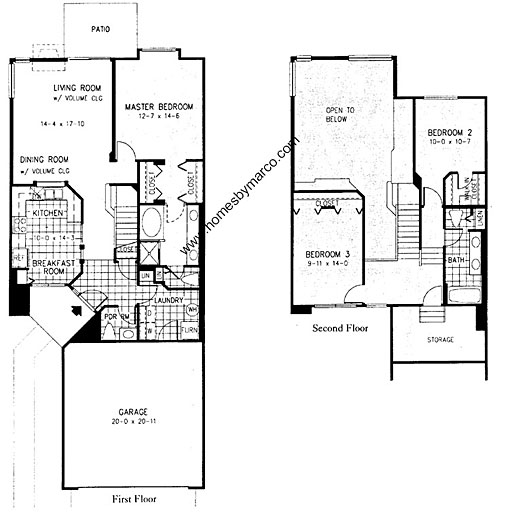 Lenox model in the concord place subdivision in buffalo for The lenox floor plan