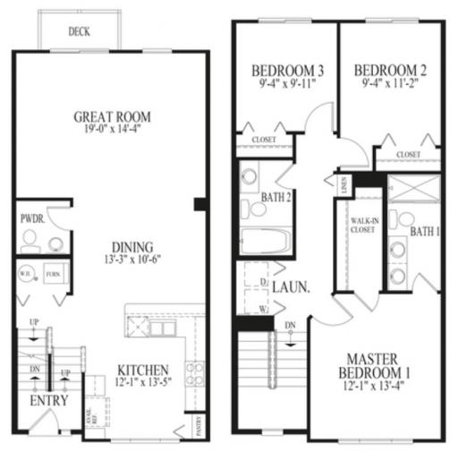Lincoln Ridge Apartments: Lincoln Model In The Lake Ridge Townhomes Subdivision In