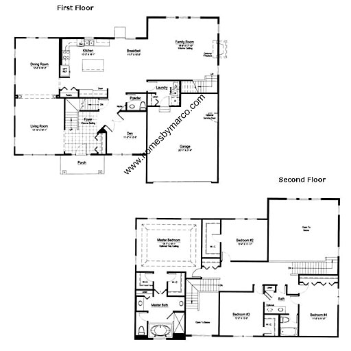 Nantucket model in the remington grove subdivision in for Nantucket floor plan