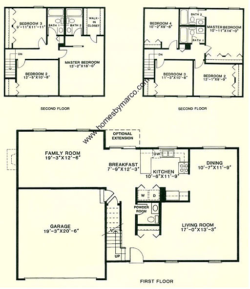 New castle model in the farmingdale village subdivision in for Small castle floor plans