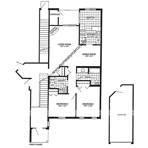 Oxford model in the arlington trails subdivision in for Oxford floor plan