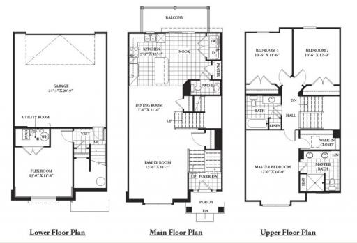 Palazzo model in the 7th street townhomes subdivision in for Palazzo floor plan
