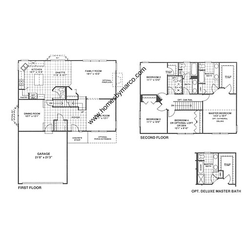 Sequoia ii model in the chapel crossing subdivision in for Small chapel floor plans