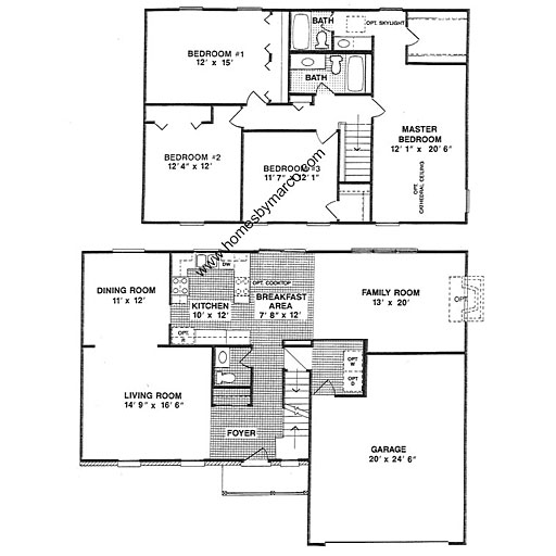Westgate Palace Floor Plans: Westbrook Model In The Westgate Subdivision In Gurnee
