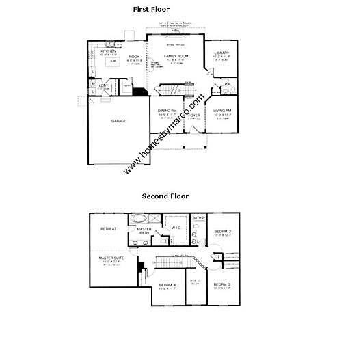 Wilshire model in the carrington reserve subdivision in for Wilshire homes floor plans