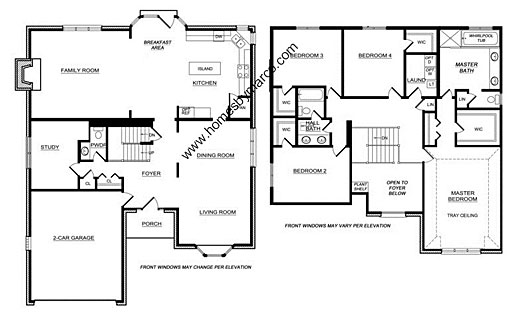 Homes By Marco Floor Plans: Winchester Model In The Armitage Pointe Subdivision In