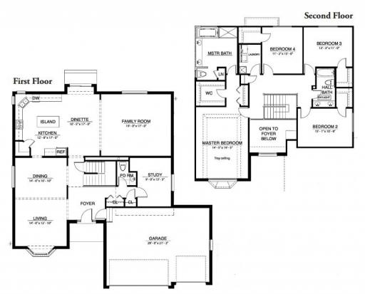 Winchester model in the nantucket lakes subdivision in new for Nantucket floor plan