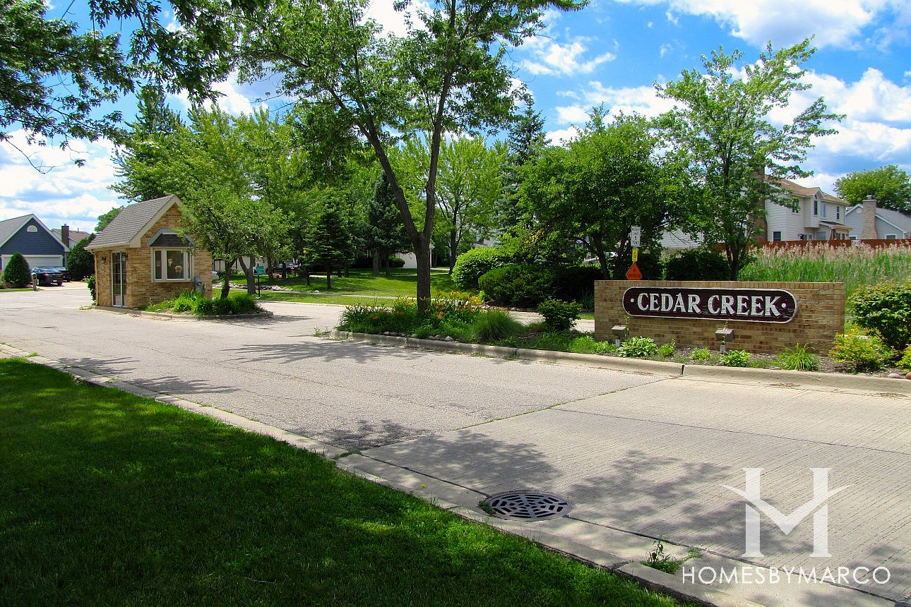Cedar creek subdivision in lake zurich illinois homes for Ceader creek